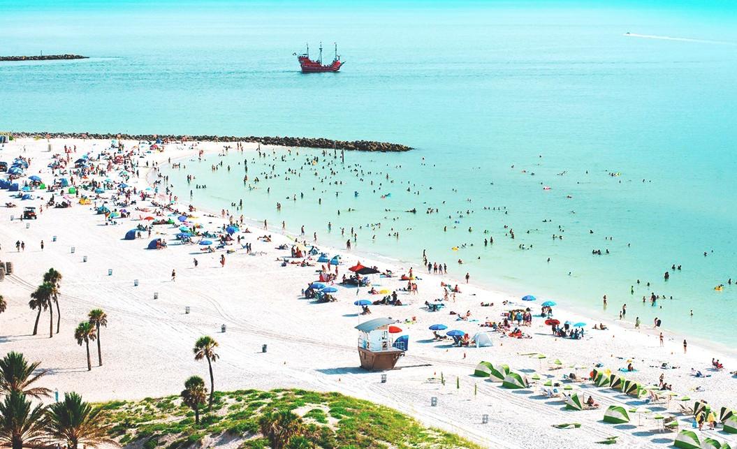 Clear water beach Florida.