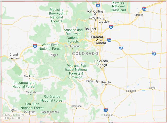 Colorado Google map