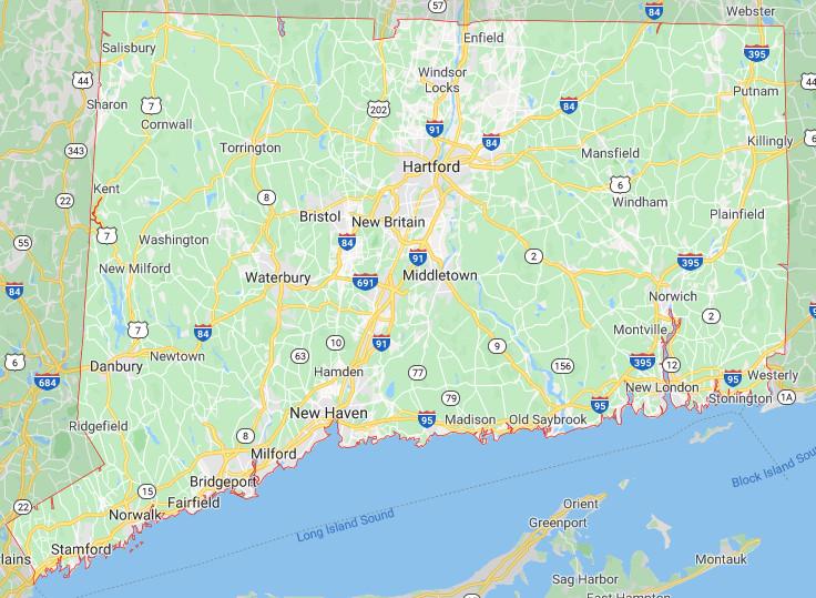Connecticut Google Map