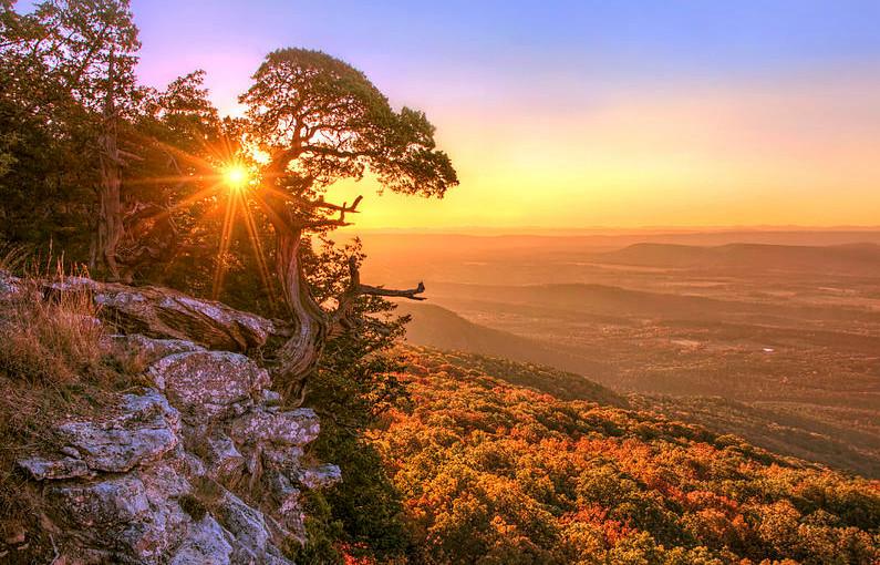 Daybreak On Mt. Magazine Arkansas