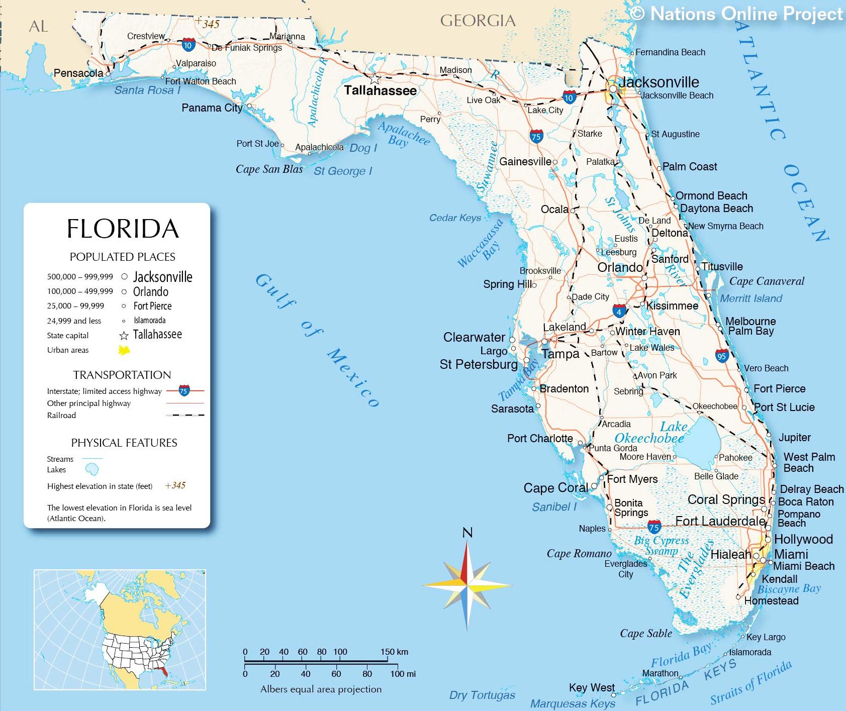 Florida Detailed map