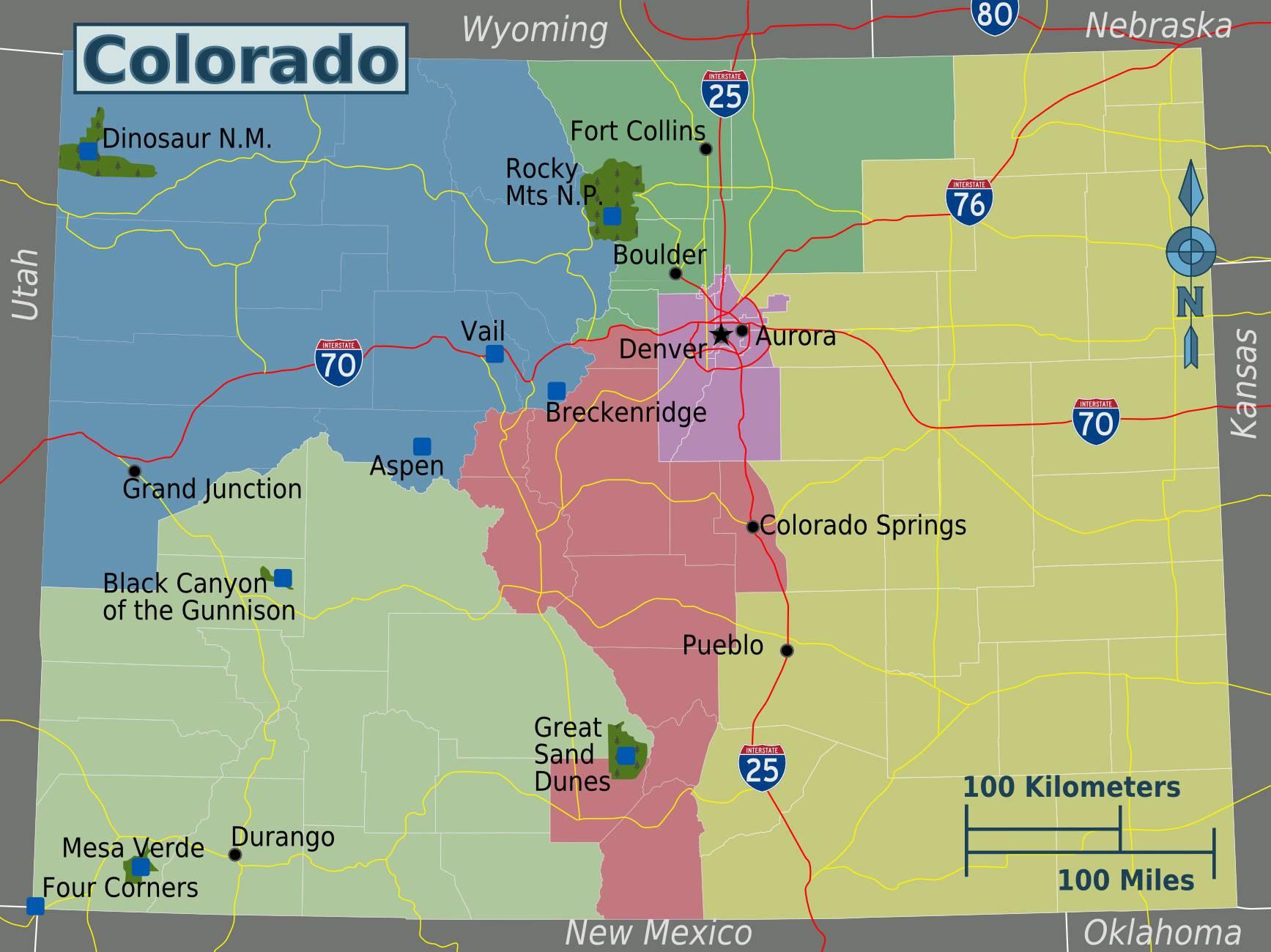 Colorado printable map