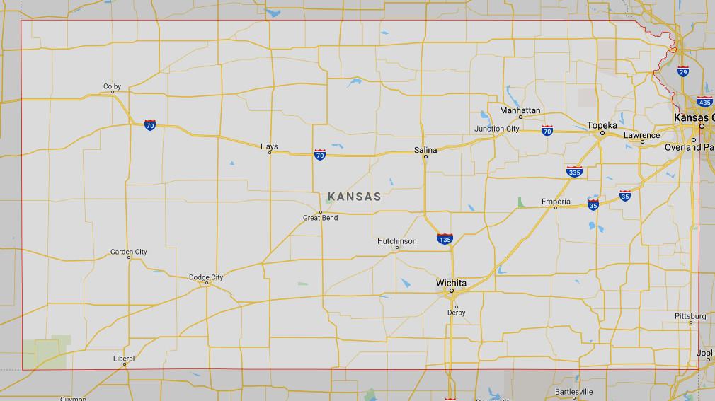 Google map of Kansas