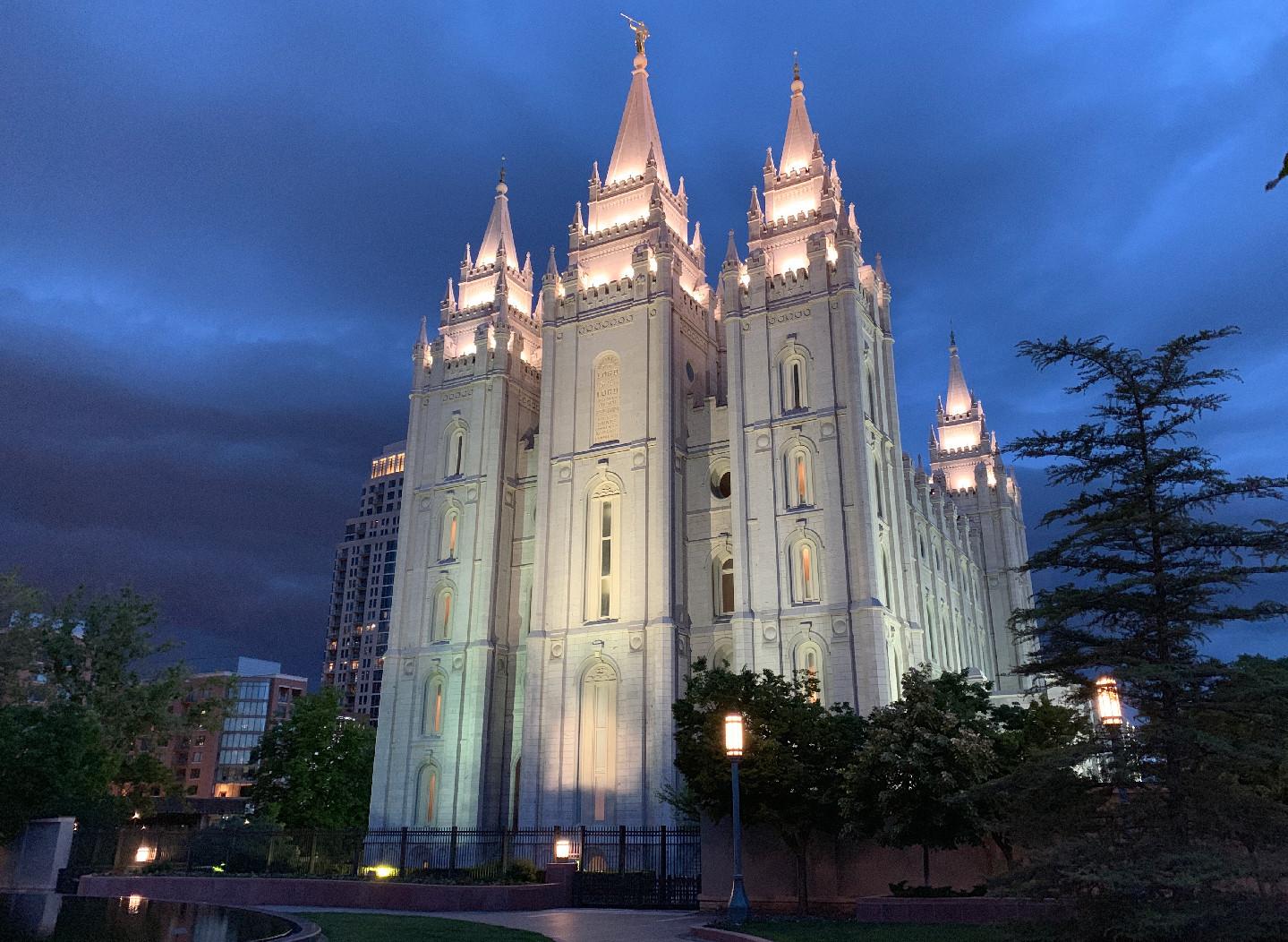 Salt Lake City and the Mormon TempleSalt Lake City and the Mormon Temple