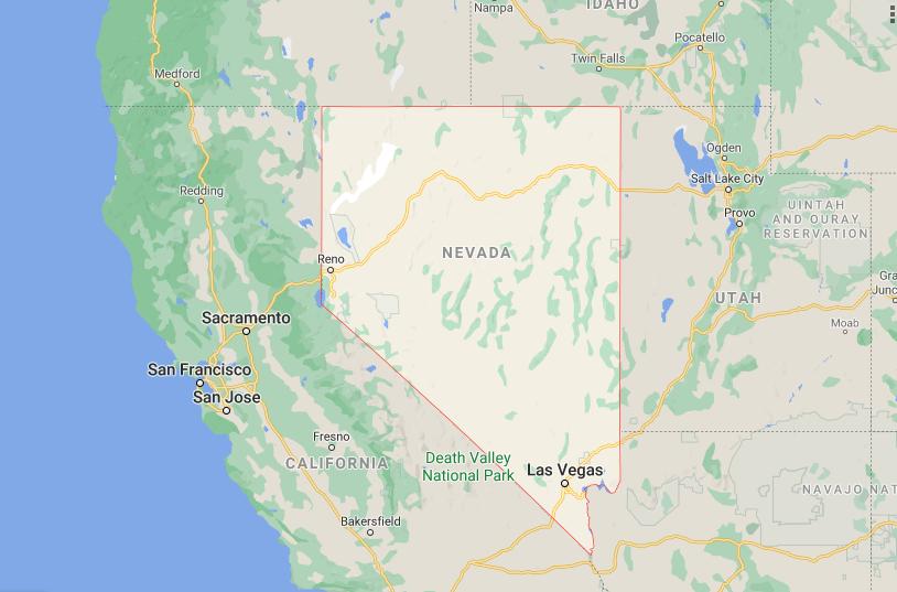 google map of nevada